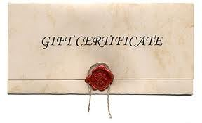 Gift Certificate from Above All Cleaning